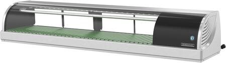 HNC-150BA-R-SL 59 inch  HNC Series Countertop Refrigerated Display Case with 2.01 cu. ft. Capacity  LED Lights  NSF Approved Thermometer  Air Condenser  R134a