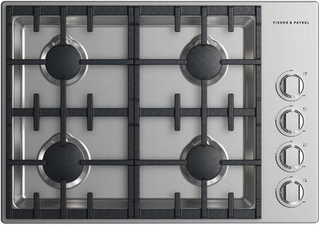 Fisher Paykel CDV2304HLN Professional Series 30 Inch Liquid Propane Cooktop with 4 Sealed Burners, Cast Iron Grates in Stainless Steel