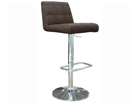 BS1056P-BRN Karen Barstool  Chocolate Faux Leather  adjustable Height   chrome 482391