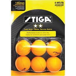 T1423 Recreational Quality Family Play Tennis Table 6-Pack Two-Star Orange