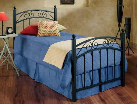Willow Collection 224BTWR Twin Size Poster Bed with Headboard  Footboard  Rails  Decorative Metal Scrollwork  Round Finials and Open-Frame Panel Design in