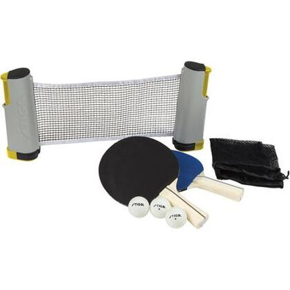 T1372 2 Player Retractable Table Tennis Set with Retractable Net  2 Paddles  3 Balls and a Mesh Storage