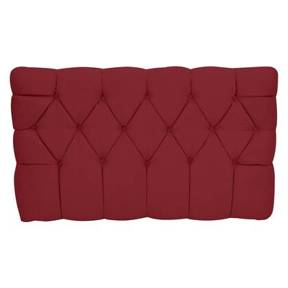 inch Meridia 11201RS Collection inch  Tufted Upholstered Twin Headboard with Metal Legs and Wood Frame in Red