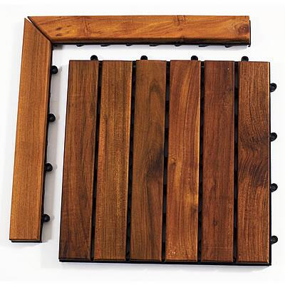 899029001545 Le click Teak Set of 2 Corner Pieces with Loop and Pin side