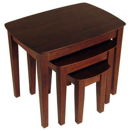 94327 3pc Nesting Table in Antique Walnut
