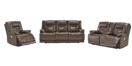 Wurstrow Collection U54603SLR 3-Piece Living Room Set with Reclining Sofa  Loveseat and Recliner in