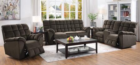 Hershey Collection 650241-S3 3-Piece Living Room Set with Reclining Sofa  Reclining Loveseat and Recliner in