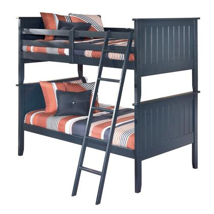 Leo Collection B103-59P/59R/59S Twin/Twin Bunk Bed with Replicated Paint in