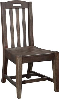 Billings 1840-774 Chair with Stretchers  Slat Back and Indonesian Hardwoods in Dark