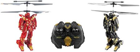 RIV-828 RC 3CH Battle Robots w Gyro 2 Pack  Coaxial Main Rotor and IR Battle Sensor in Black and