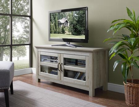 WQ44CFDWO 44 inch  Wood TV Media Stand Storage Console in White