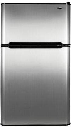 HC32TW10SV Compact Refrigerator With 3.2 cu. ft. Capacity  Full Width Glass Shelves  True Separate Freezer  Dispense a Can Storage  Interior Lighting