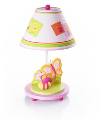 Gleeful Bugs G88107 19 inch  Table Top Lamp with Flower Design  Hand Painted and Resin Base in Multi