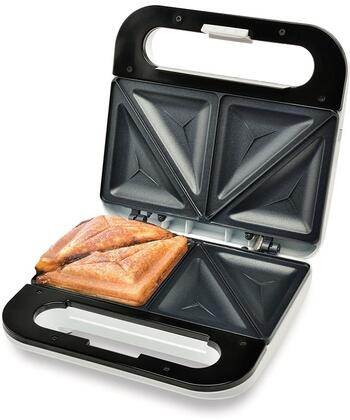 SM1068 Sandwich Maker with Non-Stick Cooking Surface  Indicator Lights and Cool Touch Handle in