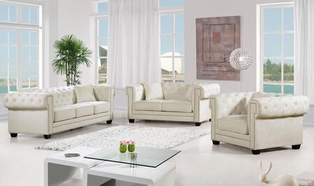 Bowery Collection 739510 3-Piece Living Room Sets with Stationary Sofa  Loveseat and Living Room Chair in