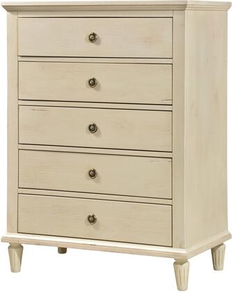 LuXeo LUX-5D2501-WHT Cambridge Chest, Dresser, White