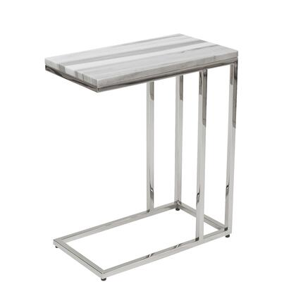XX7 24 Diam x 24H Forma C-table in Polished Stainless Steel Metal &