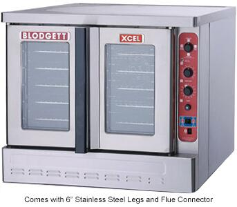 DFG100XCELADDL XCEL Series Full-Size Dual Flow Gas Convection Oven with Four Chrome-Plated Racks  Fully Welded Angle Iron Frame  Dual Flow Gas System  and