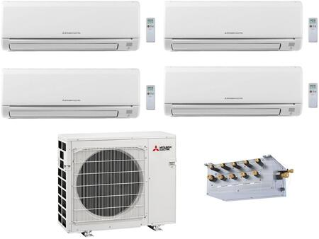 Quad Zone Mini Split Air Conditioner System with 36000 BTU Cooling Capacity  Four 9K BTU Indoor Units  and Outdoor 864749