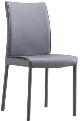 LS-404-G 35 inch  Dining Chair with Metal Base Frame and Fire-Resistant Eco-leather Upholstery in