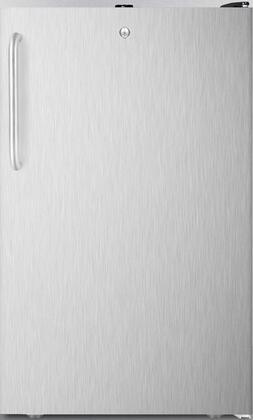 FS408BL7BISSTB 20 inch  Upright Freezer with 2.8 cu. ft. Capacity  Factory Installed Lock  Manual Defrost  Pull-Out Drawers and Reversible Door  in Stainless Steel
