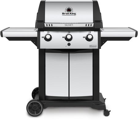 986854 Signet 320 Liquid Propane Gas Grill with 3 Burners  40000 BTU Main Burner Output  400 sq. in. Cooking Area  Three Stainless Steel Dual-Tube  Burners