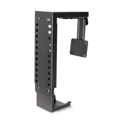 A1007 12 inch  - 24 inch  CPU Holder with Adjustable Height  Plastic and Metal Construction in Black