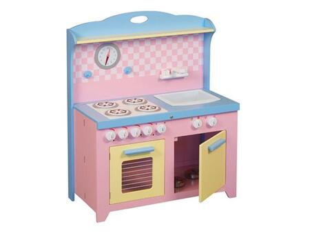 """G97272 Hideaway Children's Playtime Kitchen with Sink Dishwasher Stove and Oven with Pull-Out Rack. Playset Compacts to 6"""""""