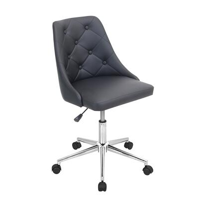 OFC-MARCHE BK Marche Height Adjustable Modern Office Chair with Swivel in