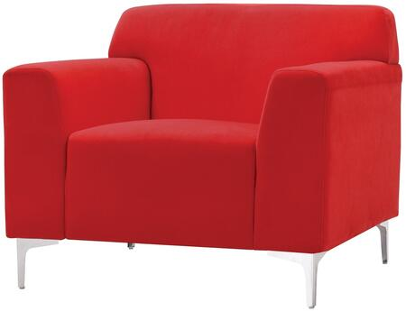 G330-c 37 Armchair With Compact Design  Removable Chrome Legs  Track Arms And Soft Velvet Cover In Red