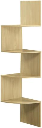 San Dimas Collection 99100 54 inch  Hanging Corner Wall Mounted Storage with 4 Contoured Shelves in