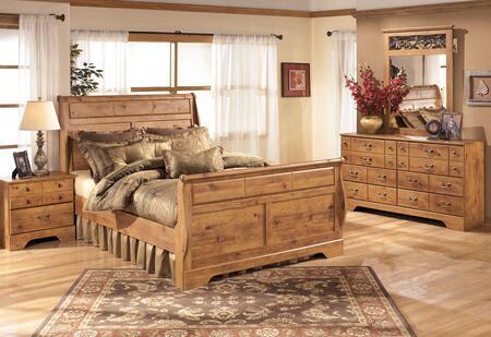 Bittersweet Queen Bedroom Set With Sleigh Bed  Dresser  Mirror And Nightstand In Light