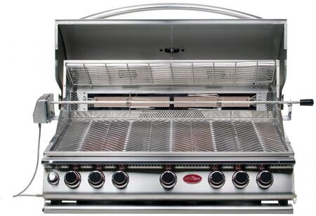 BBQ18875CP Built In Liquid Propane Grill with 5 Burners  Built- In Light  Convection Oven  Conversion Kit  and Independent Ignition  in Stainless 907307