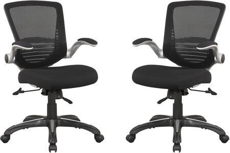 MC-632- B Ergonomic Walden Office Chair in Black Mesh - Set of