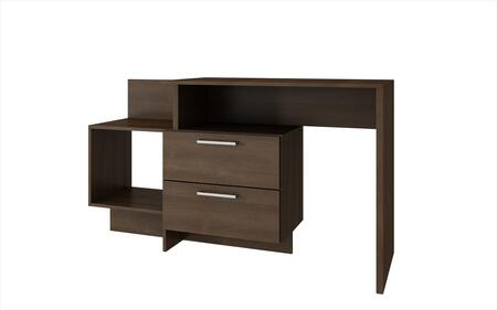 "Teramo Collection 78AMC49 37"" Home Desk with 2 Drawers and 1 Large Cubby in"