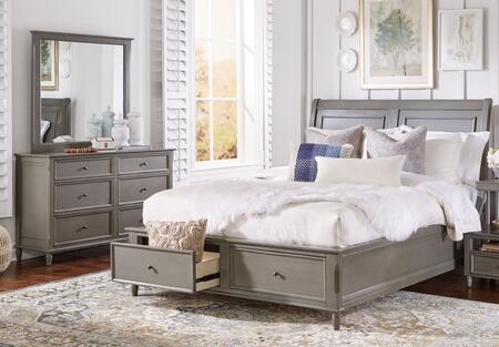 Avignon Youth Collection 1618qpbdm 3-piece Bedroom Set With Queen Storage Bed  Dresser And Mirror In