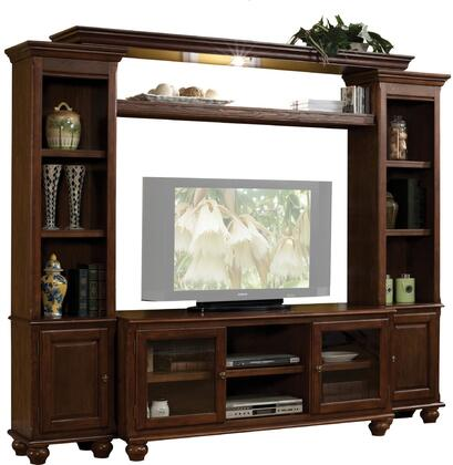 Dita Collection 91105ENT 94 inch  4-Piece Entertainment Center with TV Stand  Left Pier  Right Pier and Bridge with Light in
