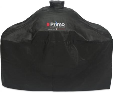 Grill Cover for Oval XL 400 & Oval LG 300 in Cart with Side Tables and Oval JR 200 in Cypress