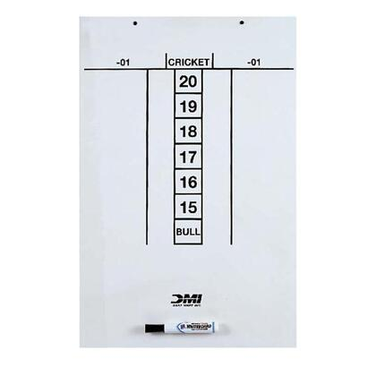 SCORD 23.5 inch  x 15.5 inch  Dry Erase Scoreboard Screened for Easy Scoring of Cricket and