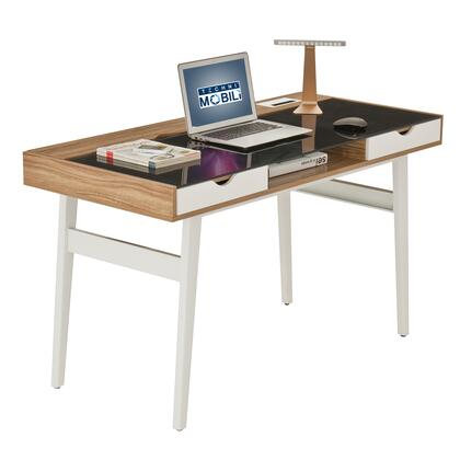 RTA-2335-WAL Techni Mobili Compact Computer Desk with Multiple Storage. Color: