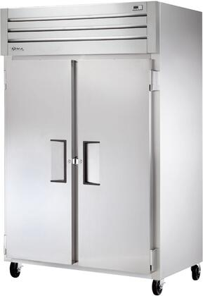 STM2R-2S 53 inch  Reach-In Solid Swing Door Refrigerator with 6 Heavy Duty PVC Coated Shelves  2 Doors and Operating Temperature Between 33 - 38 Degrees F  in