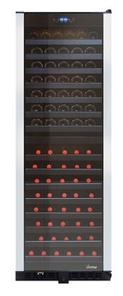 Vinotemp VT-155VCM-C 24 Inch Built-In and Freestanding Dual Zone Wine Cooler with 155 Bottle Capacity