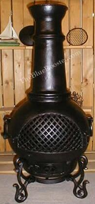 ALCH016CHGKLP Gas Powered Gatsby Chiminea Outdoor Fireplace in Charcoal - Liquid
