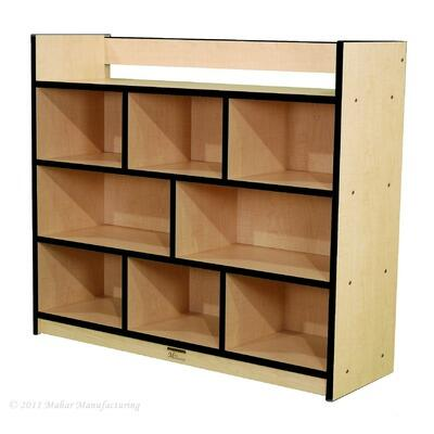 N50950FG Youth Single-Sided Storage Unit with Book Rack Gray Nebula Finish  Edge Color - Forest