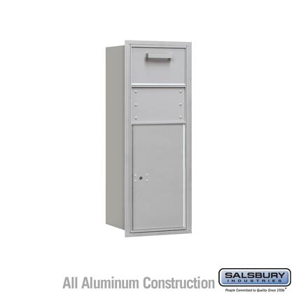 3710S-1CAR Recessed Mounted 4C Horizontal Collection Box - 10 Door High Unit (37 1/2 Inches) - Single Column - Aluminum - Rear