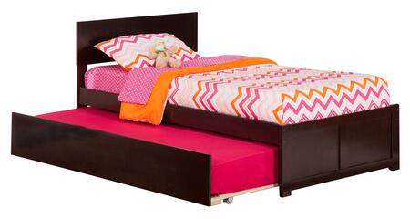 AR8122011 Orlando Twin Platform Bed with Flat Panel Foot Board and Twin Size Urban Trundle Bed in