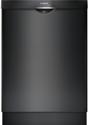 "Bosch 300 Series 24"" Pocket Handle Dishwasher with Stainless Steel Tub Black SHSM63W56N"