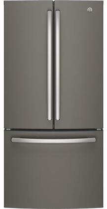 GE GWE19JMLES 33 Counter Depth French Door Refrigerator with 18.6 cu. ft. Total Capacity in Slate