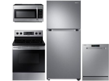 4-Piece Stainless Steel Kitchen Package with RT18M6215SR