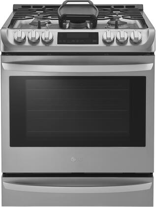 LG 6.3 Cu. Ft. Self-Cleaning Slide-In Gas Convection Range Stainless Steel LSG4513ST
